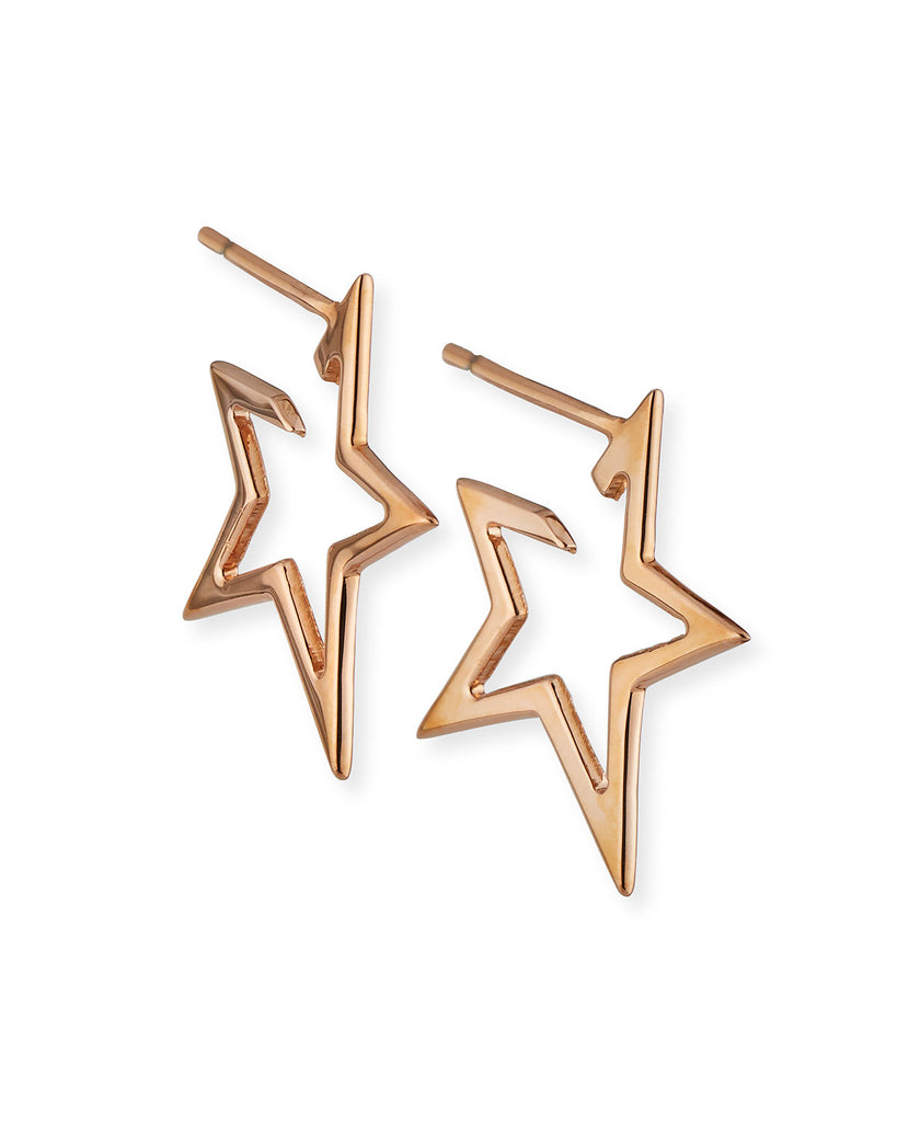 Small Rose Gold Sade Star Earrings