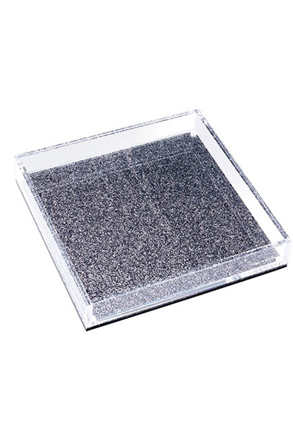Lucite Photo Tray Square With Glitter