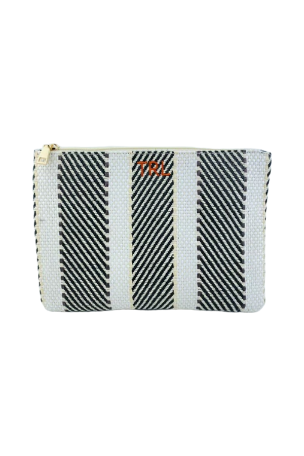 Rae of Light Striped Custom Clutch