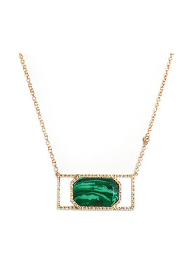 Diamond & Malachite Necklace