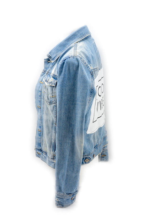 Denim Jacket 'Good Vibes'