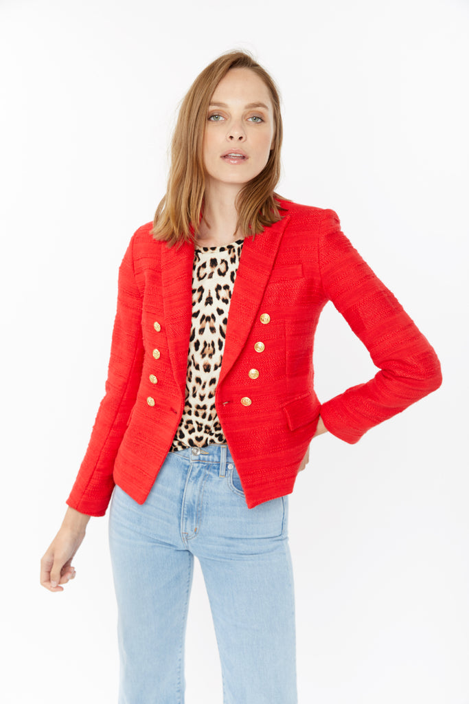 Red Tweed Blazer