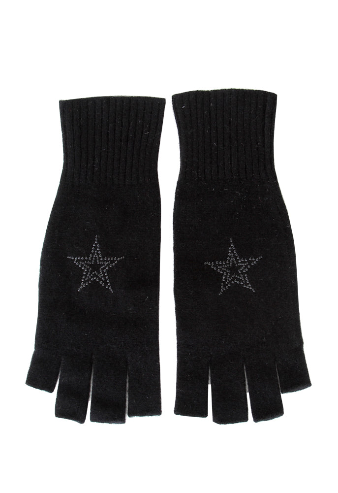 Star Studded Fingerless Gloves
