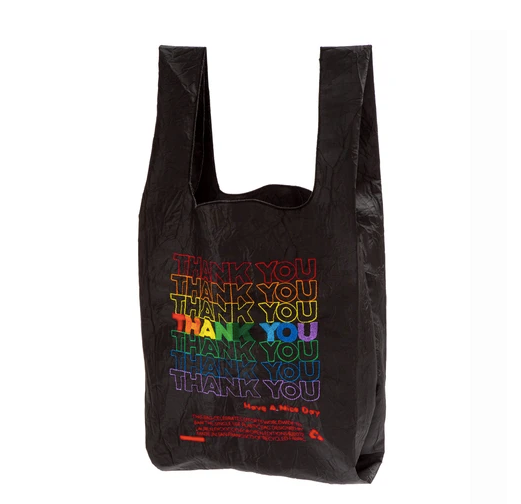 Reusable Black Rainbow Thank You Tote