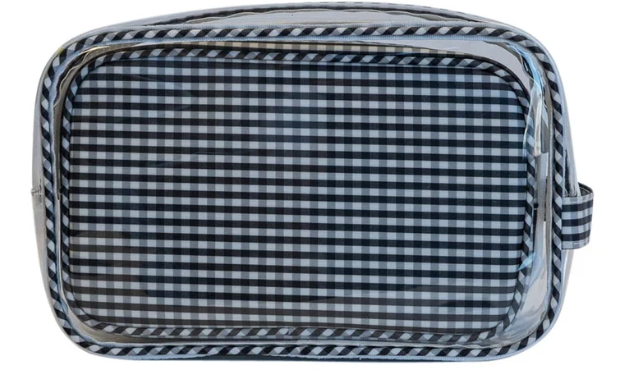 TRVL Designs Clear Duo Gingham with monogramming