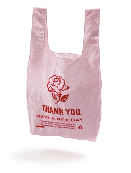 Open Editions Reusable Pink Rose Thank You Tote