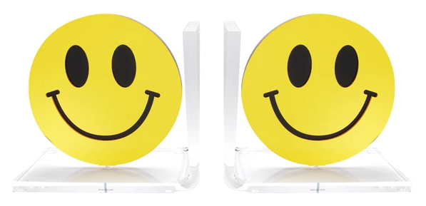 Smiley Tabletop Sculpture or Bookends