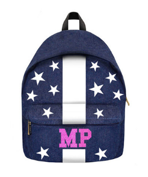 Denim Backpack w/ Stars