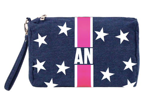Denim Pouch/Clutch w/ Stars