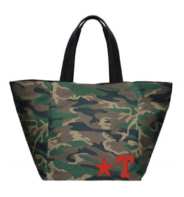 Camouflage Medium Tote Star Letter