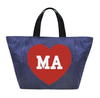 Denim Mini Tote Big Heart