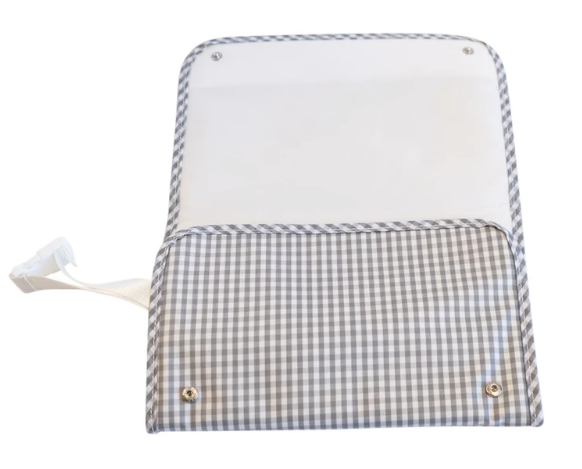 TRVL Designs Gingham Changer Pad with monogramming