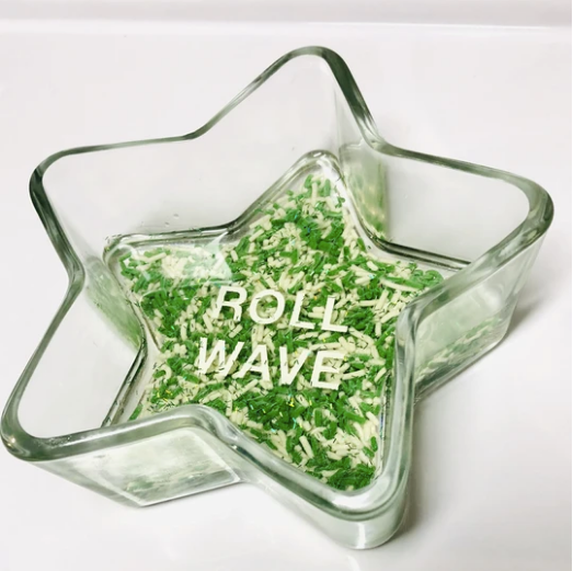 RESINatebyks Lucite Sprinkles Custom College Candy/Jewelry Dish