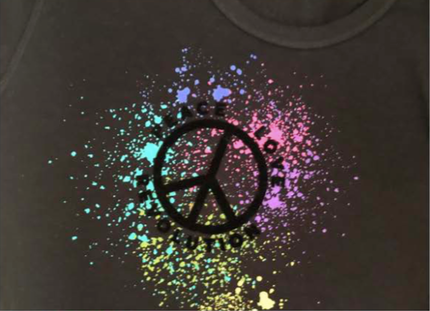 Unsweetened NY Peace Love Splatter Tee
