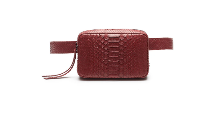 J Markell Genuine Python 3 in 1 Belt Bag