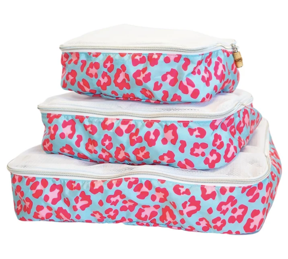 TRVL Designs Pink Leopard Packing Squad Cubes Set