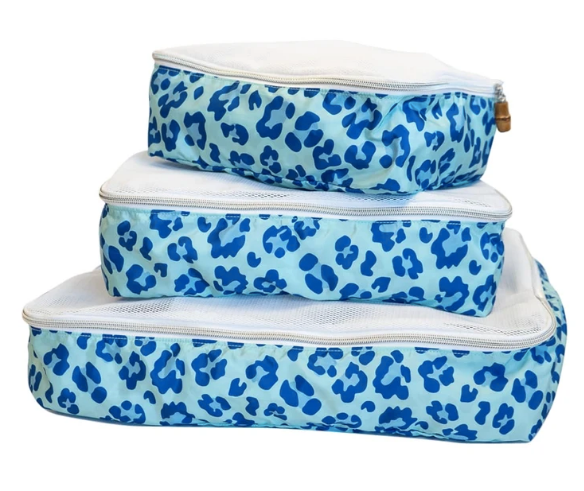 TRVL Designs Blue Leopard Packing Squad Cubes Set