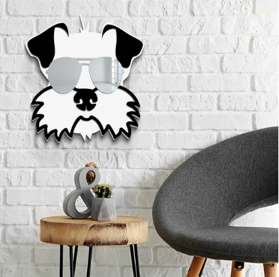 Cool Schnauzer Wall Sculpture Decor