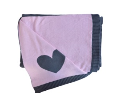 Pink Lemonade 'Heart' Blanket, Pouch & Eye Mask Set (Various Colors)