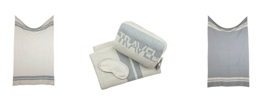 Pink Lemonade 'Travel' Blanket, Pouch & Eye Mask Set