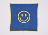 Pink Lemonade Smiley Face Baby Blanket, Pouch & Burp Cloth Set