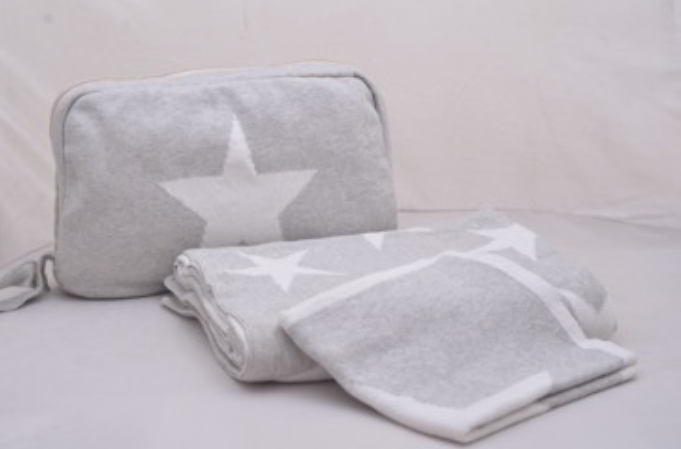 Pink Lemonade Star Baby Blanket, Pouch & Burp Cloth Set (Various Colors)