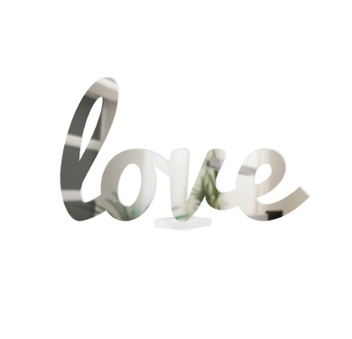 4artworks 3D Love Tabletop Sculpture (Various Colors)