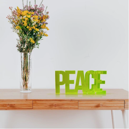 4artworks 3D Peace Tabletop Sculpture (Various Colors)