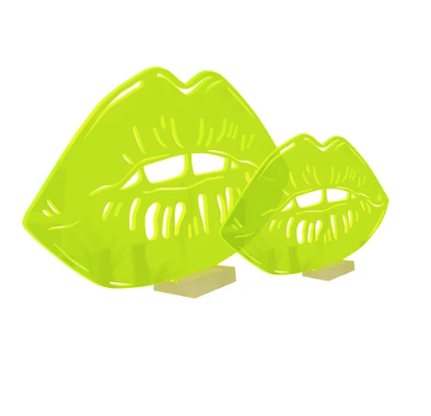 4artworks 3D Lips Tabletop Sculpture (2 Sizes/Various Colors)
