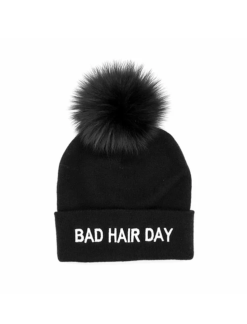 Mitchie's Bad Hair Day Pom Beanie