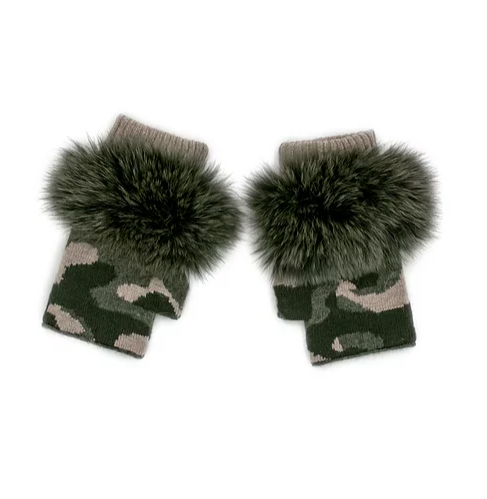 Mitchie's Hunter Green/Beige Camouflage Gloves