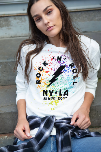 Unsweetened NY Painted Rock Multi Long Sleeve