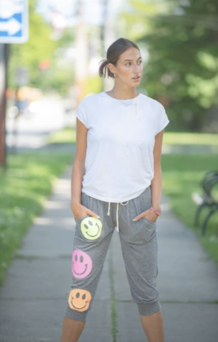 Hipchik Jersey Smileys Joggers (Ankle or Full Length)