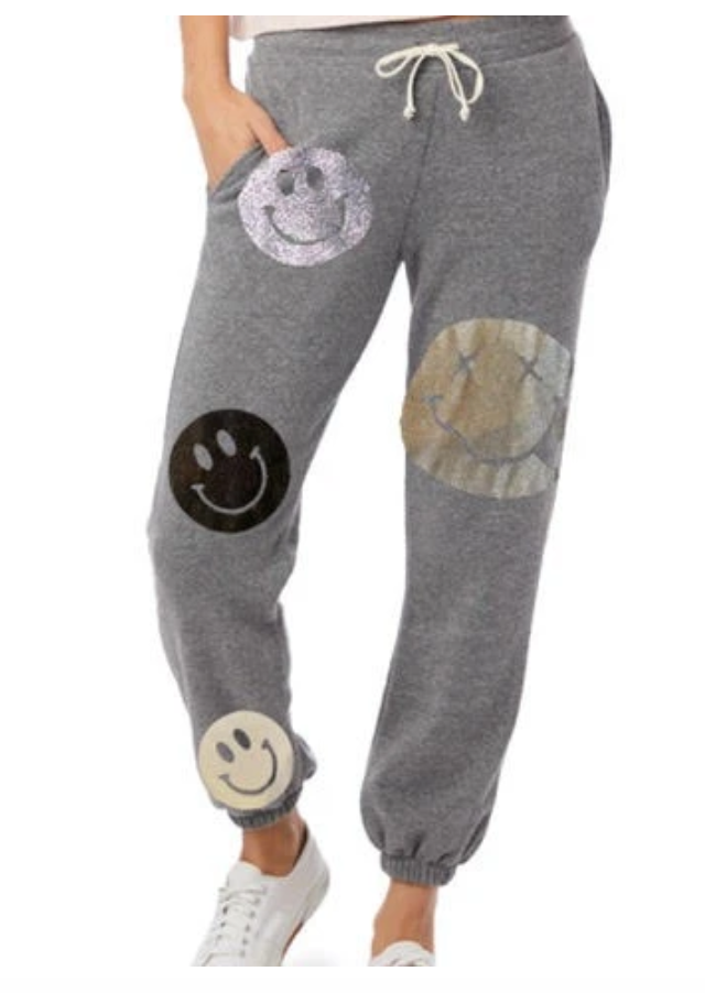 Hipchik Neutral Smiley Jogger Sweatpants