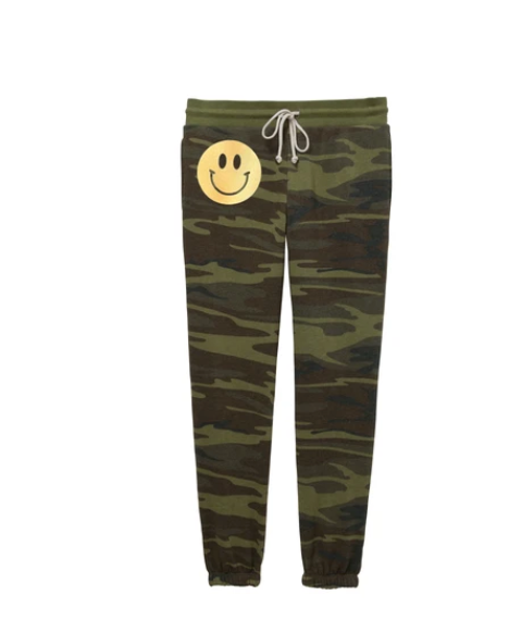 Hipchik Camo Smiley Jogger Sweatpants
