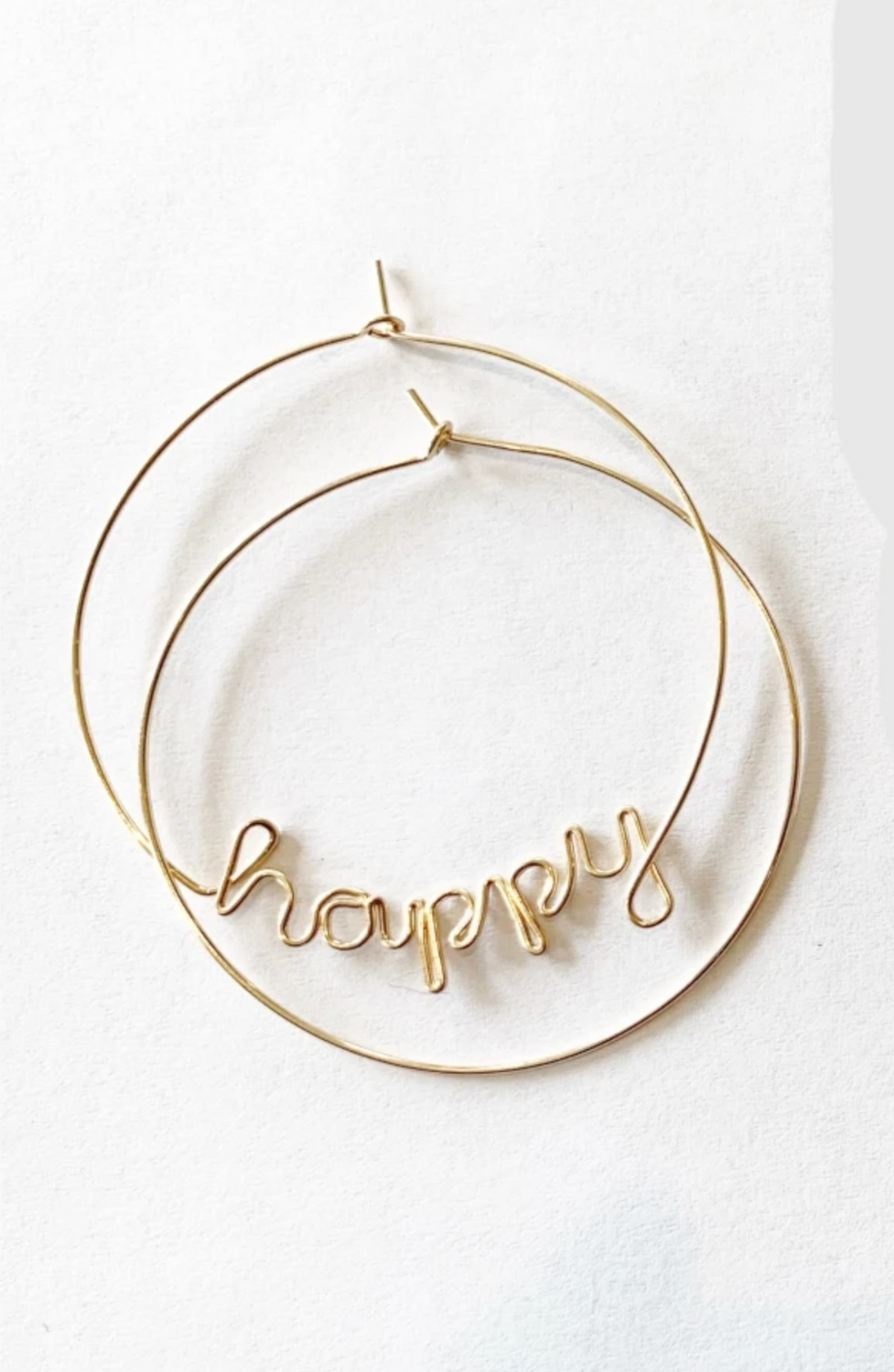 'Custom Word or Name' Wire-wrap Hoops