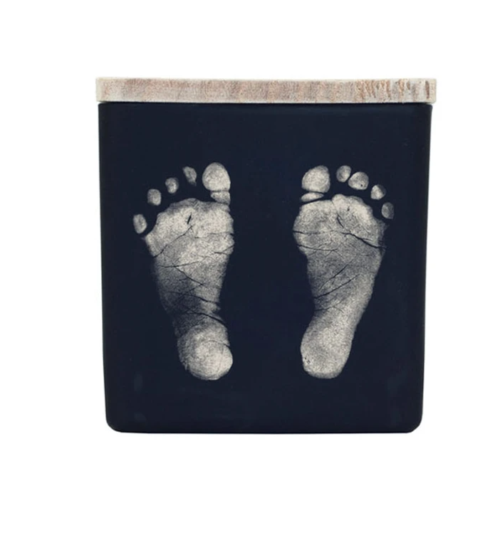 TAJA Baby Footprints Candle