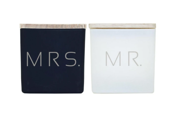 TAJA Candle Mr & Mrs. Gift Set