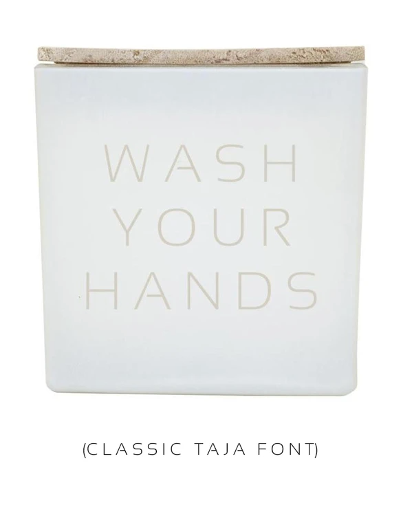 TAJA Candle Wash Your Hands