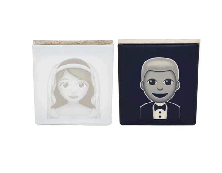 TAJA Candle Bride & Groom Gift Set