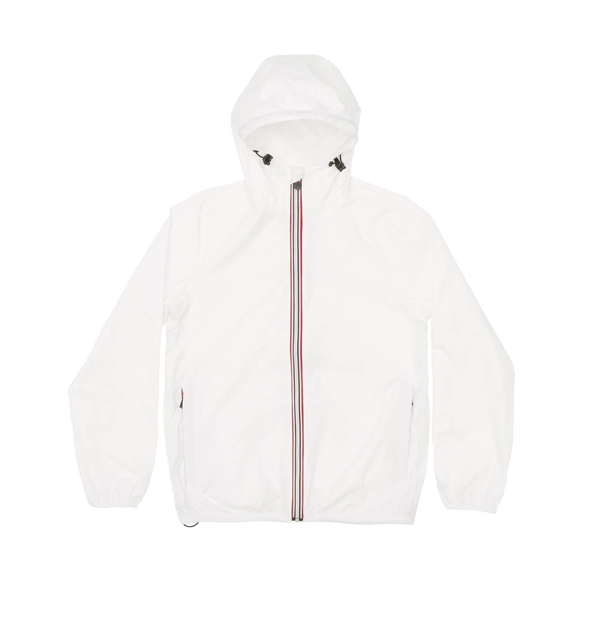 O8 Lifestyle Men's White Full Zip Packable Jacket