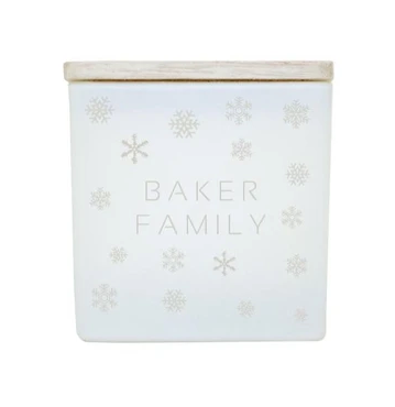 TAJA Candle Snowflakes Name