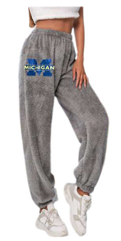 Hipchik Fuzzy Custom College Sweatpants