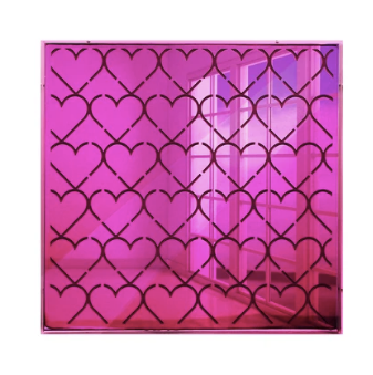 4artworks Multiple Hearts Mirrored Wall Sculpture Decor (Various Colors)