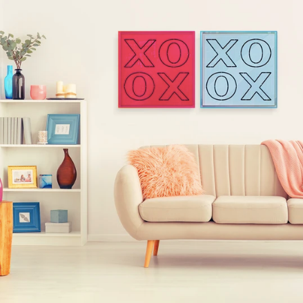 4artworks Neon XOXO Wall Sculpture Decor (Various Colors)