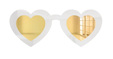 4artworks Heart Eyes Sunglasses Wall Sculpture Decor (Various Colors)