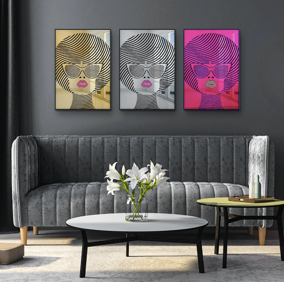 4artworks Mirrored Beauty Wall Sculpture Decor (Various Colors)