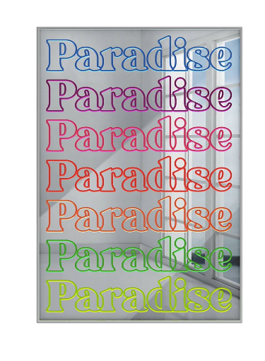 4artworks Mirrored Paradise Wall Sculpture Decor
