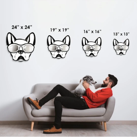 4artworks Cool Frenchie Wall Sculpture Decor (Various Colors)