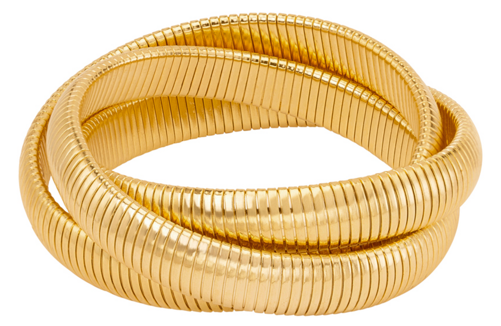Triple Gold Cobra Bracelet